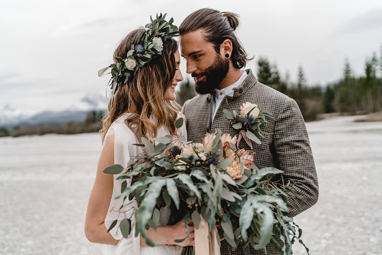 Boho Hochzeit Bayern Isartal Elopementwedding