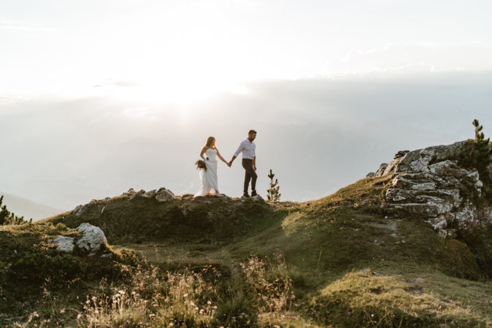 After Wedding Shooting Berg Gipfel Tirol