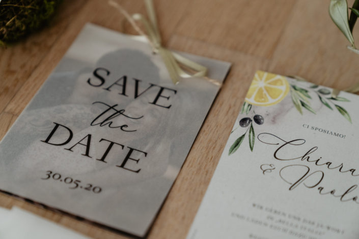 Hochzeitspapeterie Hochzeitseinladung Save the Date Karten