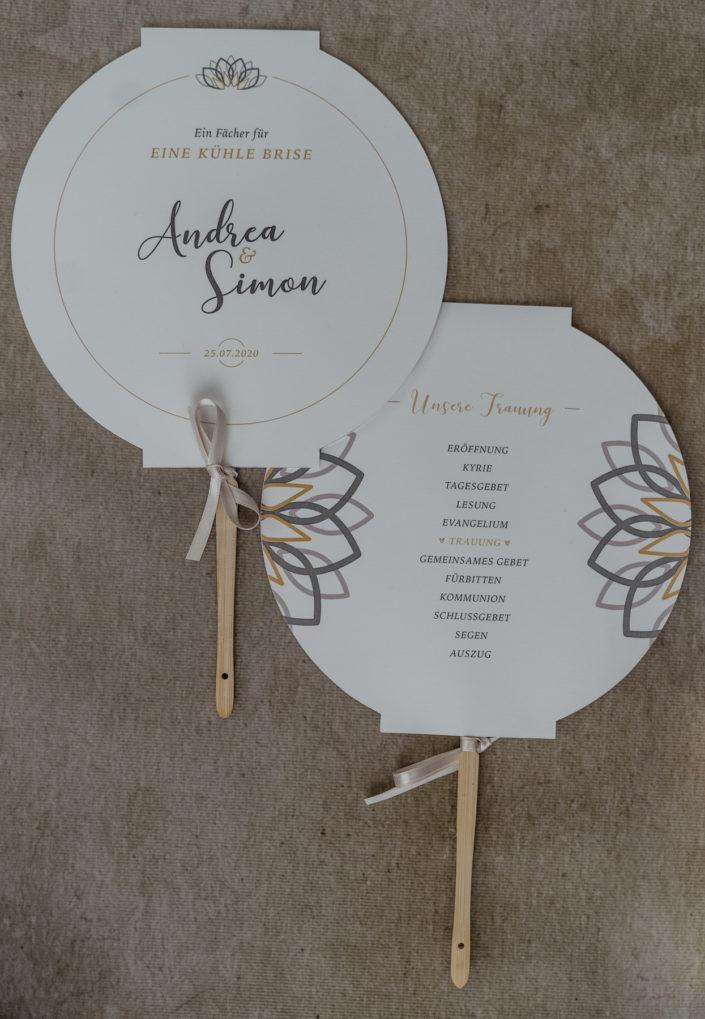 Hochzeitspapeterie Hochzeitseinladung Fächer