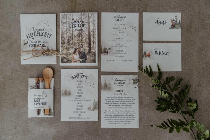 Hochzeitspapeterie Hochzeitseinladung Holz