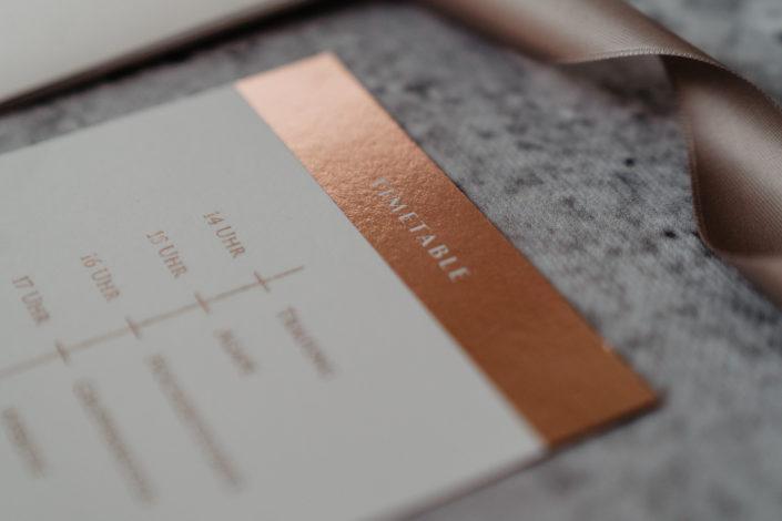 Hochzeitspapeterie Hochzeitseinladung Sleeking Kupfer