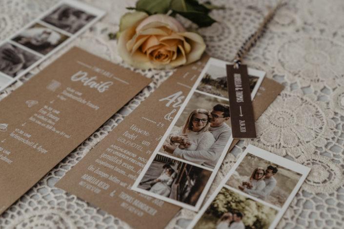Hochzeitspapeterie Hochzeitseinladung