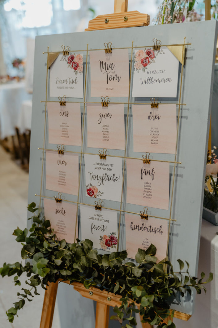 Tischordnung Hochzeitspapeterie Ariane Frötscher
