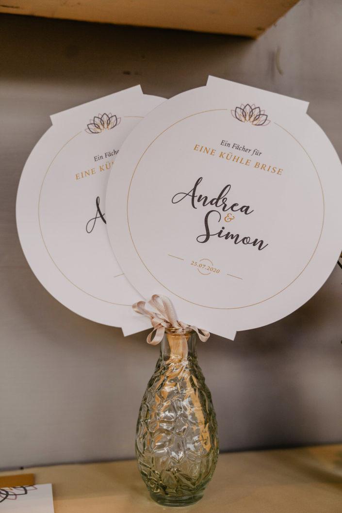 Fächer Hochzeitspapeterie Ariane Frötscher