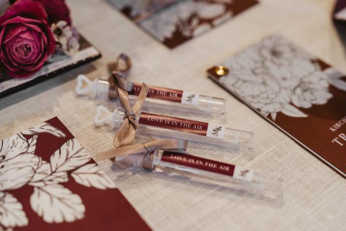 Seifenblasenanhänger Hochzeitspapeterie Ariane Frötscher