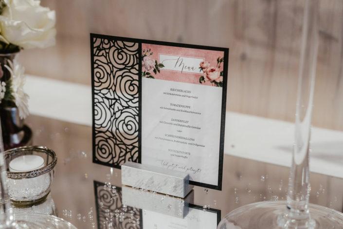 Menükarte Hochzeitspapeterie Ariane Frötscher