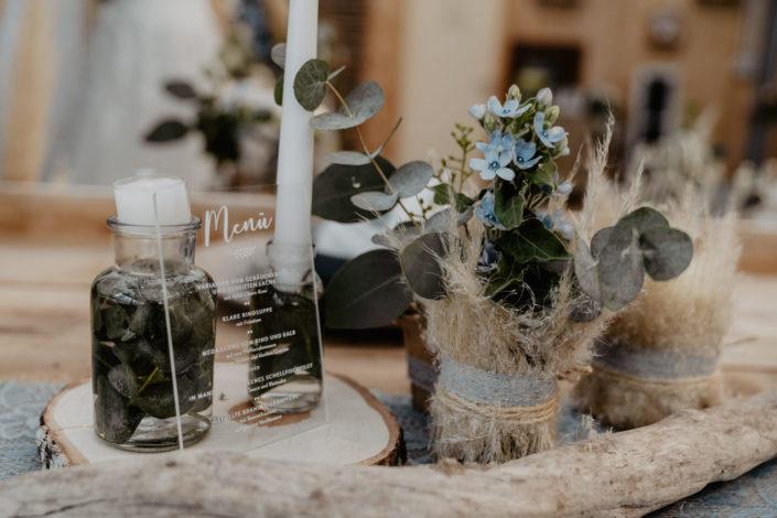 Menükarte Acrylglas Hochzeitspapeterie Ariane Frötscher