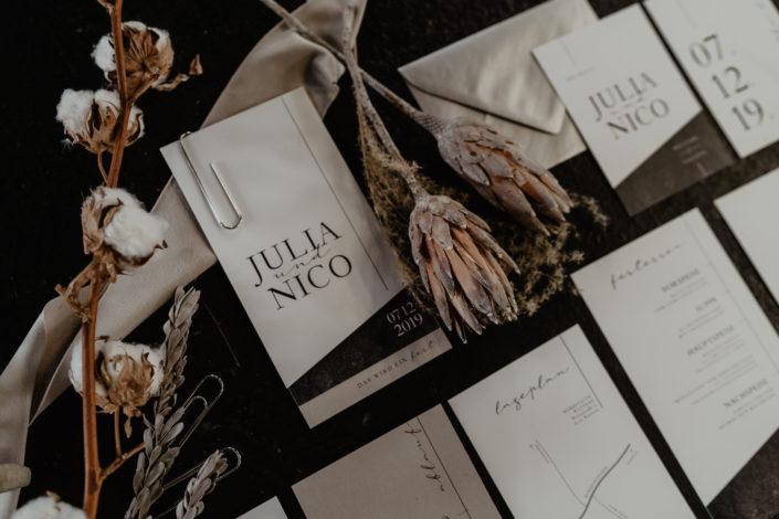 Hochzeitspapeterie Einladungen Menükarten individuell