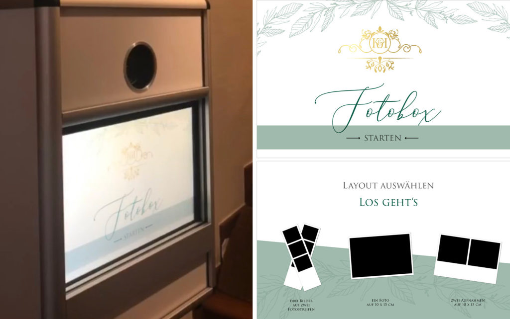 Hochzeit Fotobox im Wunschdesign