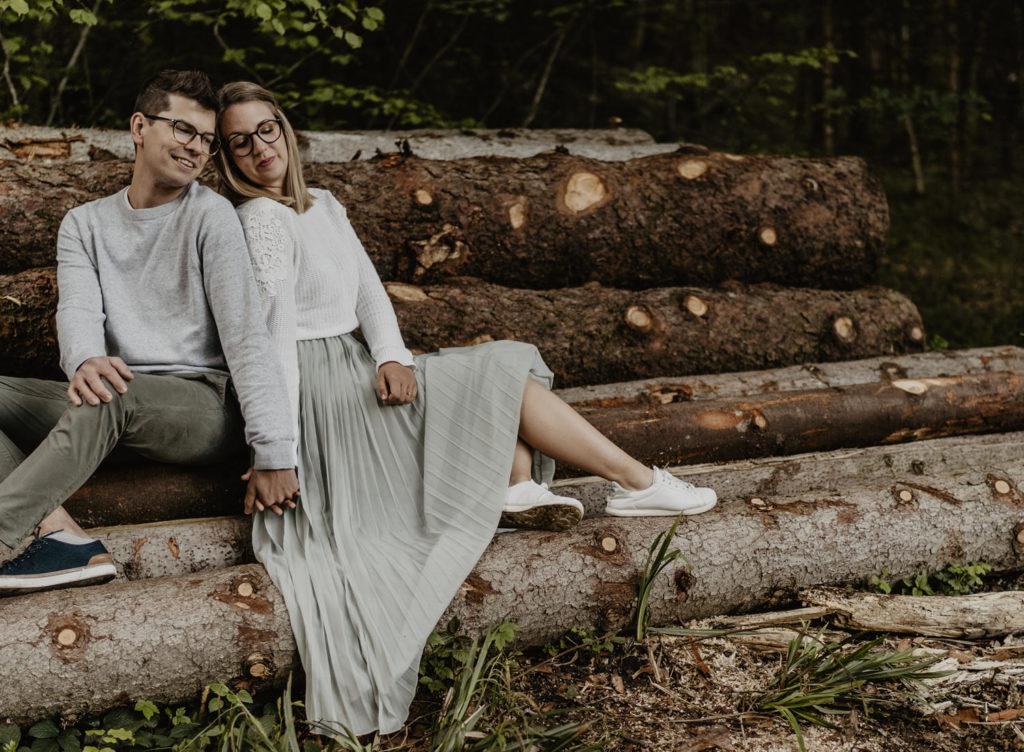 Verlobungsshooting Hochzeitseinladungen Kramsach Berglsteiner See Tirol