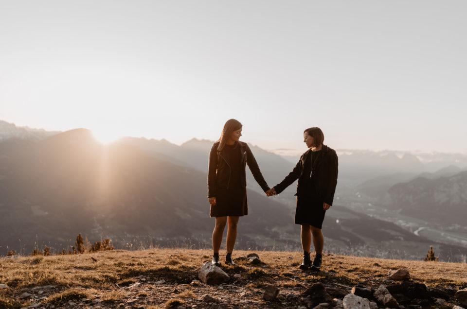 Paarshooting gleichgeschlechtlich Berge Tirol