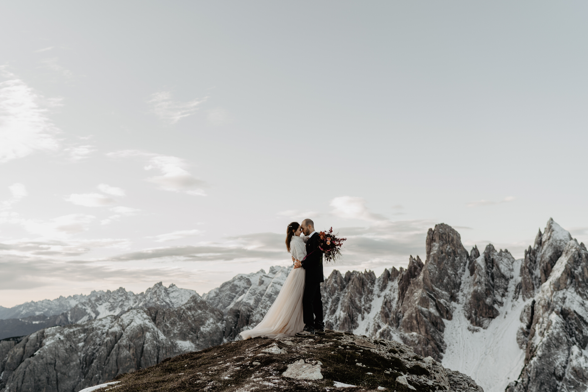 Elopement Dolomiten Drei Zinnen Hochzeit Afterwedding Berg