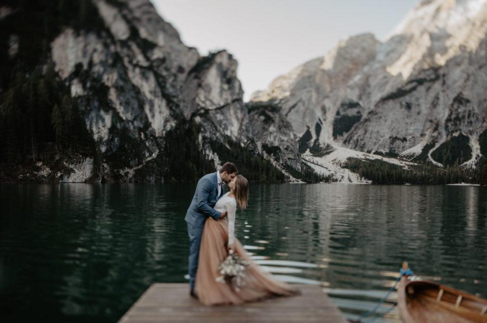 Dolomiten Südtirol Hochzeit Lago di Braies Elopement Pragser Wildsee